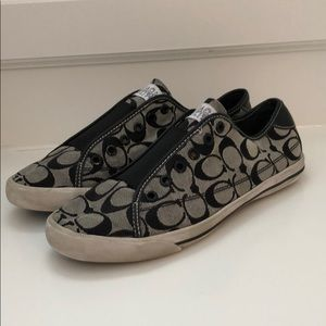Black and Gray Coach Sneakers